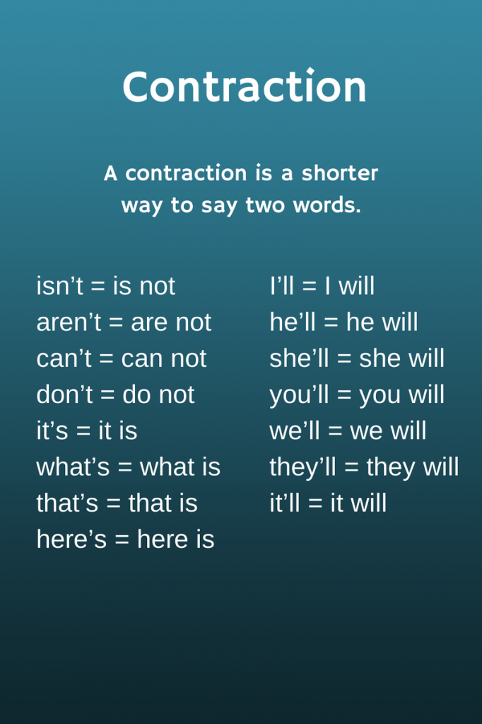 writing with contractions in essay