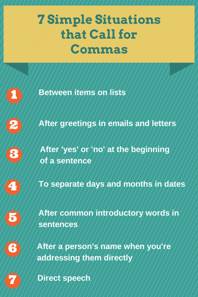 7 Simple Situations that Call for Commas 2
