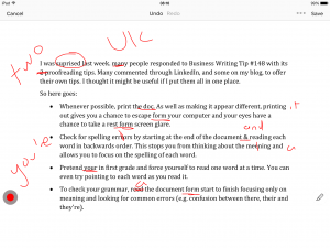 proofreading annotated