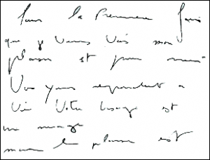 If your handwriting looks like this, you might want to write your notes up immediately ...